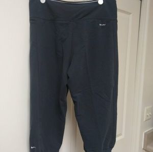 Womens Nike Dri Fit Capris with Fold Over
